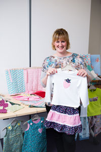 Annabel from Bella's Bobbins, who received a £300 grant towards her business