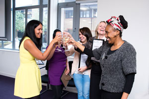 Congratulations! Our Strive programme participants celebrating after their successful pitches