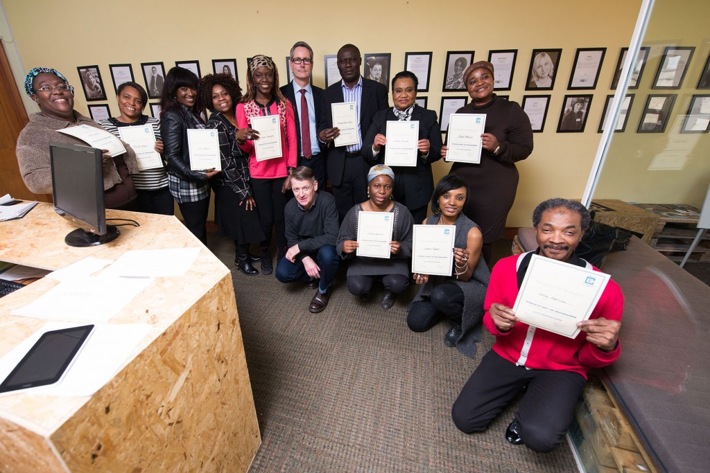 Photo of Strivers with their certificates