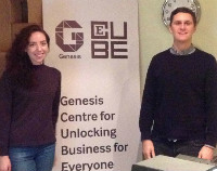 Photo of our new staff members, Tom and Sinéad