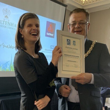 Striver Megan receiving her certificate from the Mayor