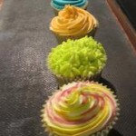 Photo of coloured cupcakes
